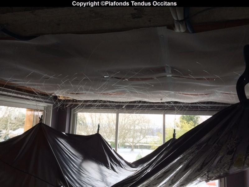 pose de fibre optique dans un plafond tendu plafonds. Black Bedroom Furniture Sets. Home Design Ideas