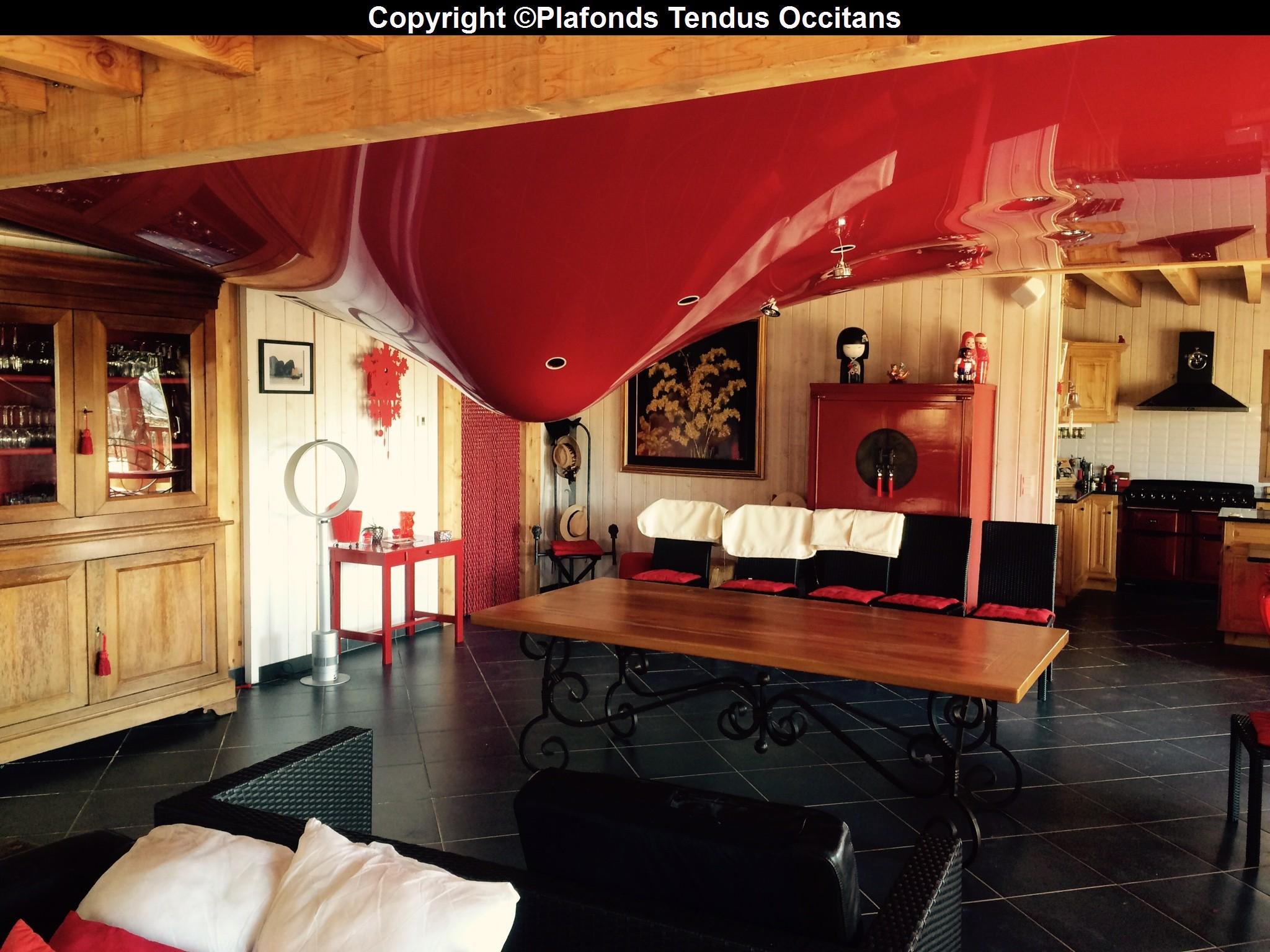 vid o d g t des eaux dans un plafond tendu 2 plafonds tendus occitans. Black Bedroom Furniture Sets. Home Design Ideas