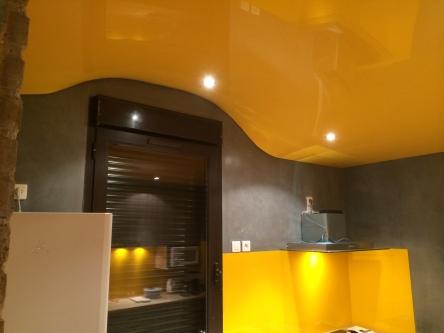 Plafond tendu en 3D (en forme)